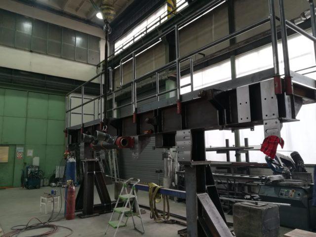 Výroba chladícího ráhna válcovací tratě